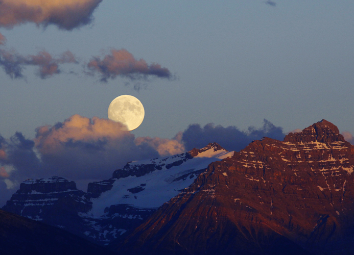 Moon over Mt Kerkeslin