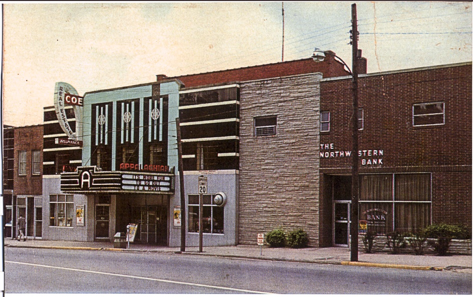 The Appalachian Theatre, circa 1970. Image from the Appalachian Theatre archives.