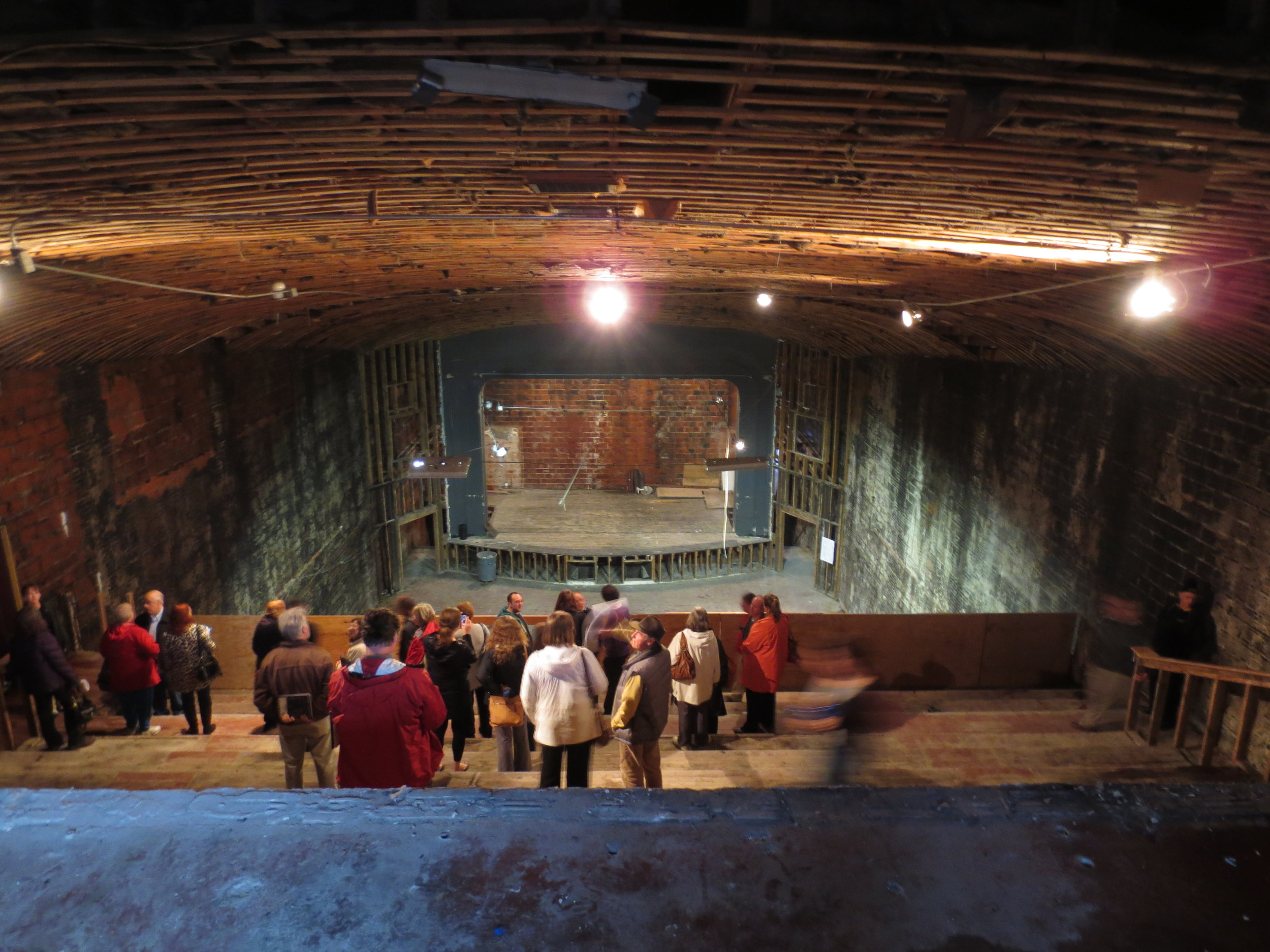 The interior of the Appalachian Theatre as seen from the balcony, May 2013. Image courtesy of Eric Plaag.