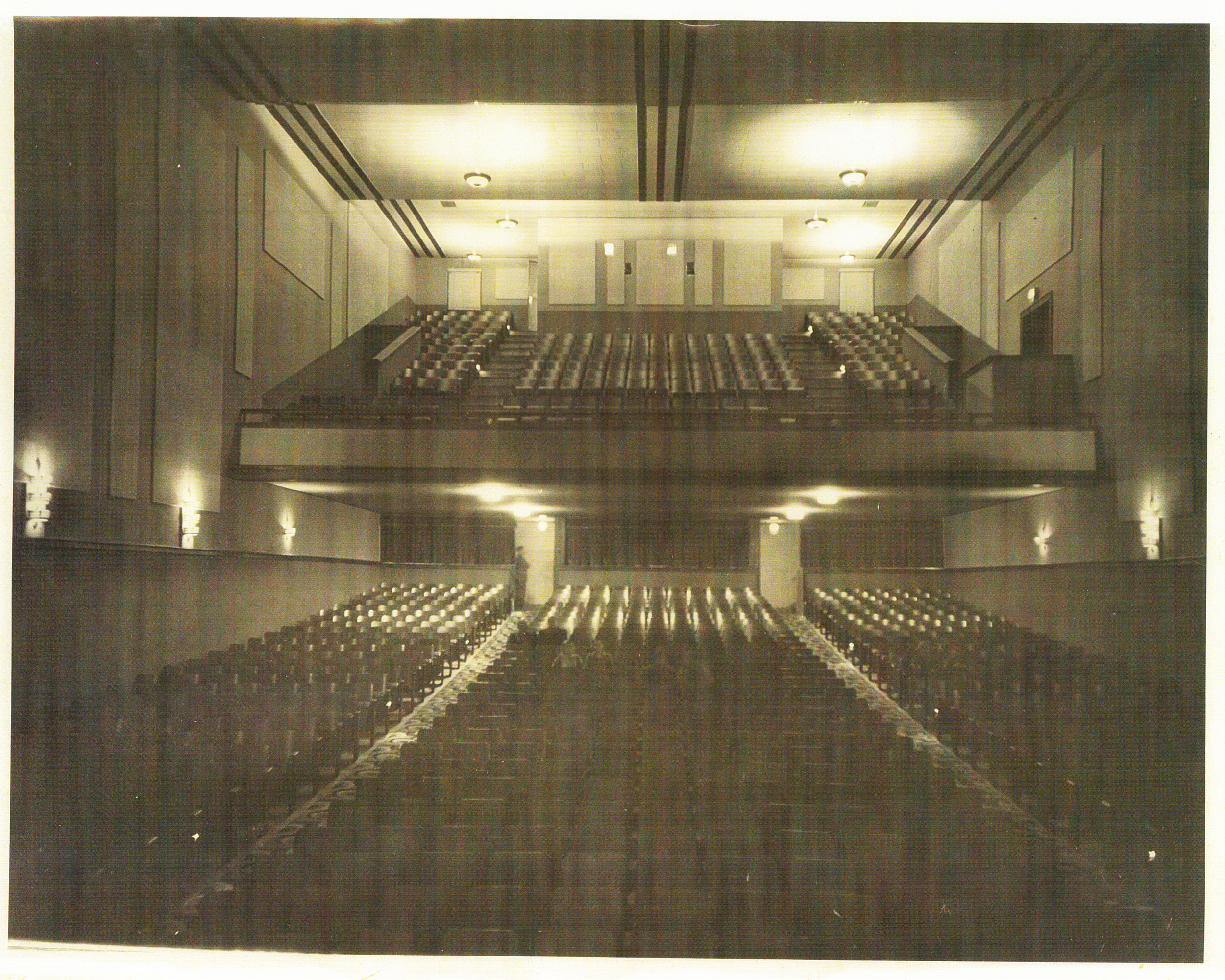 The auditorium of the Appalachian Theatre in November 1938, as seen from the stage. Image courtesy of the Sams Family.