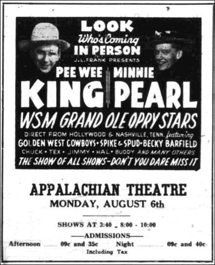 Advertisement from  Watauga Democrat , August 2, 1945, page 7.