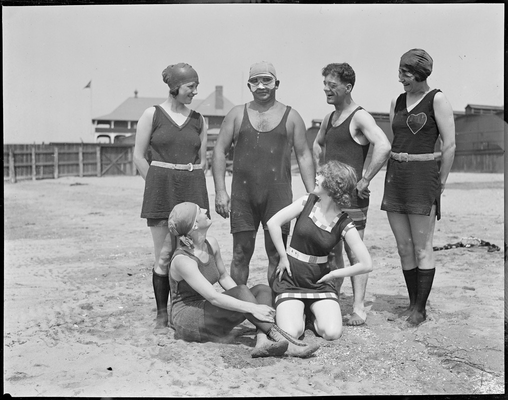 Charles Toth and Bozo Snyder's Bathing Girls at L Street Bathhouse - Leslie Jones Collection, Boston Public Library, Digital Commonwealth Massachusetts Collections Online