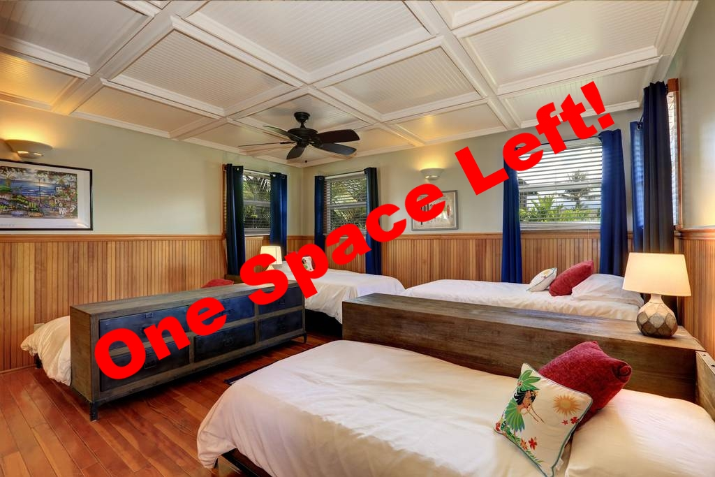 PACKAGE 1 - DORM/SHARED ROOM  Features: Shared Bath, Ocean Views, Air Conditioning, Modern Suite, Twin Size Bed  (3/4 Spots Filled)
