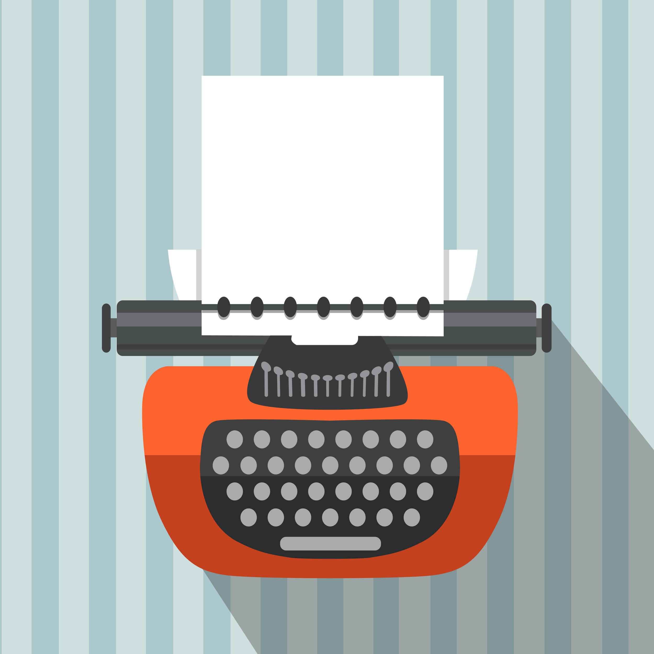 Graphic image of a typewriter