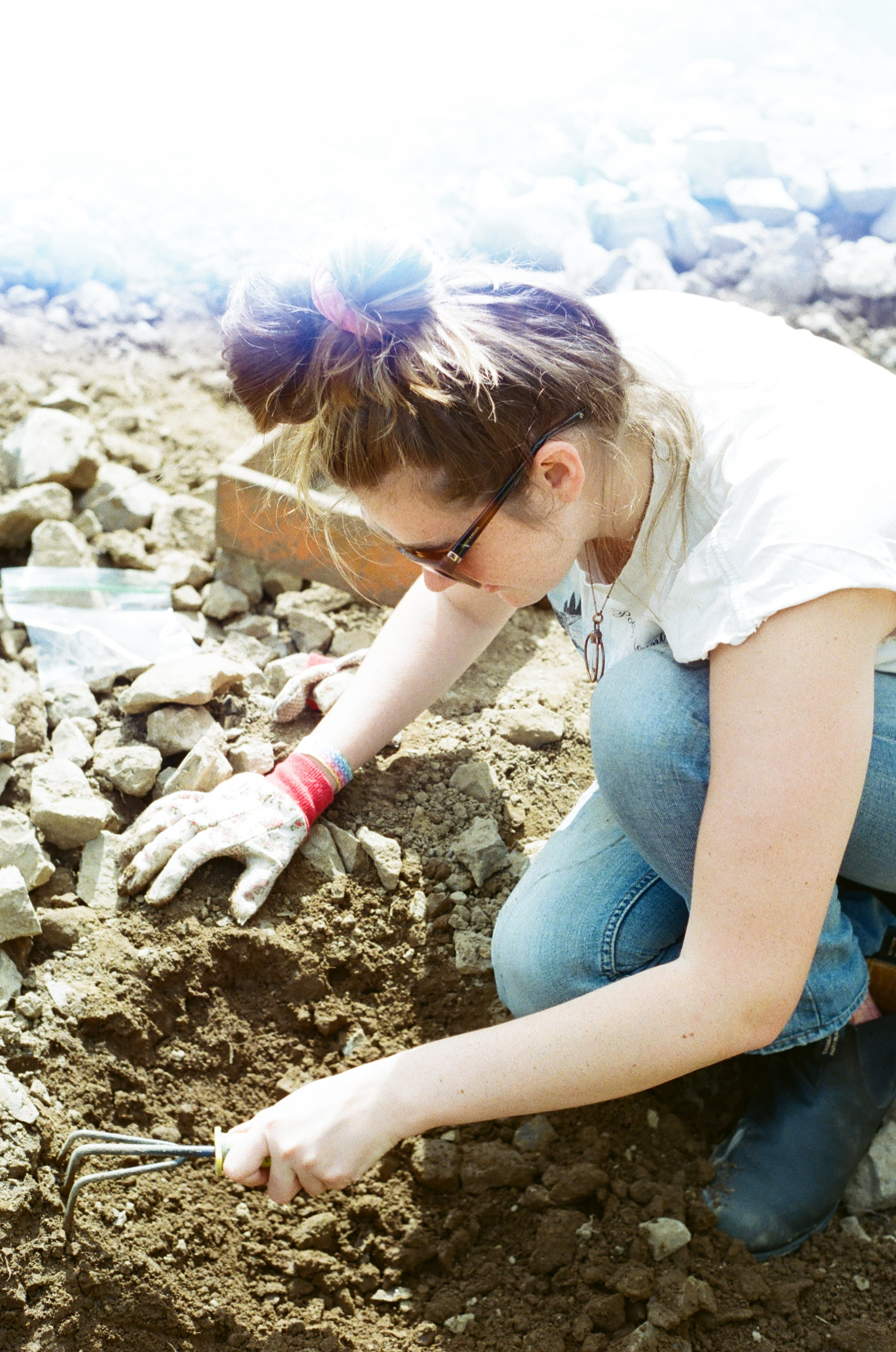 Me digging around for Herkimers in Herkimer County New York on my birthday this past summer!