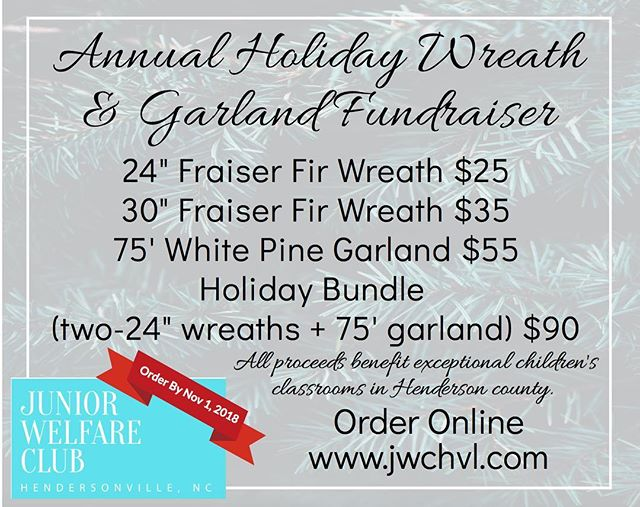 Wreaths are BACK! Order your holiday greenery and benefit the E.C. Classrooms of Henderson County at the SAME TIME!!! Ordering is live on the website. Link in bio!! 🎄