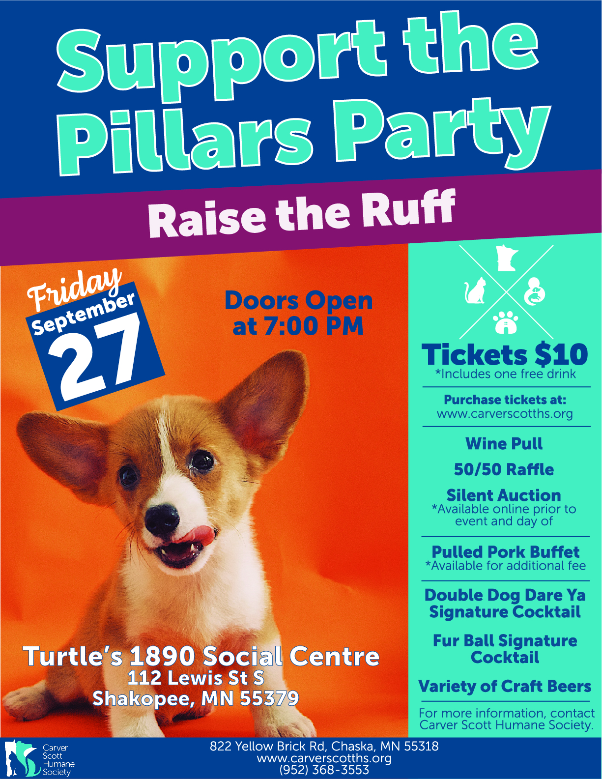 Support the Pillars Party