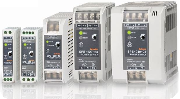Switched power supplies. 15W, 30W, 60W, 120W, 180W and 240W.