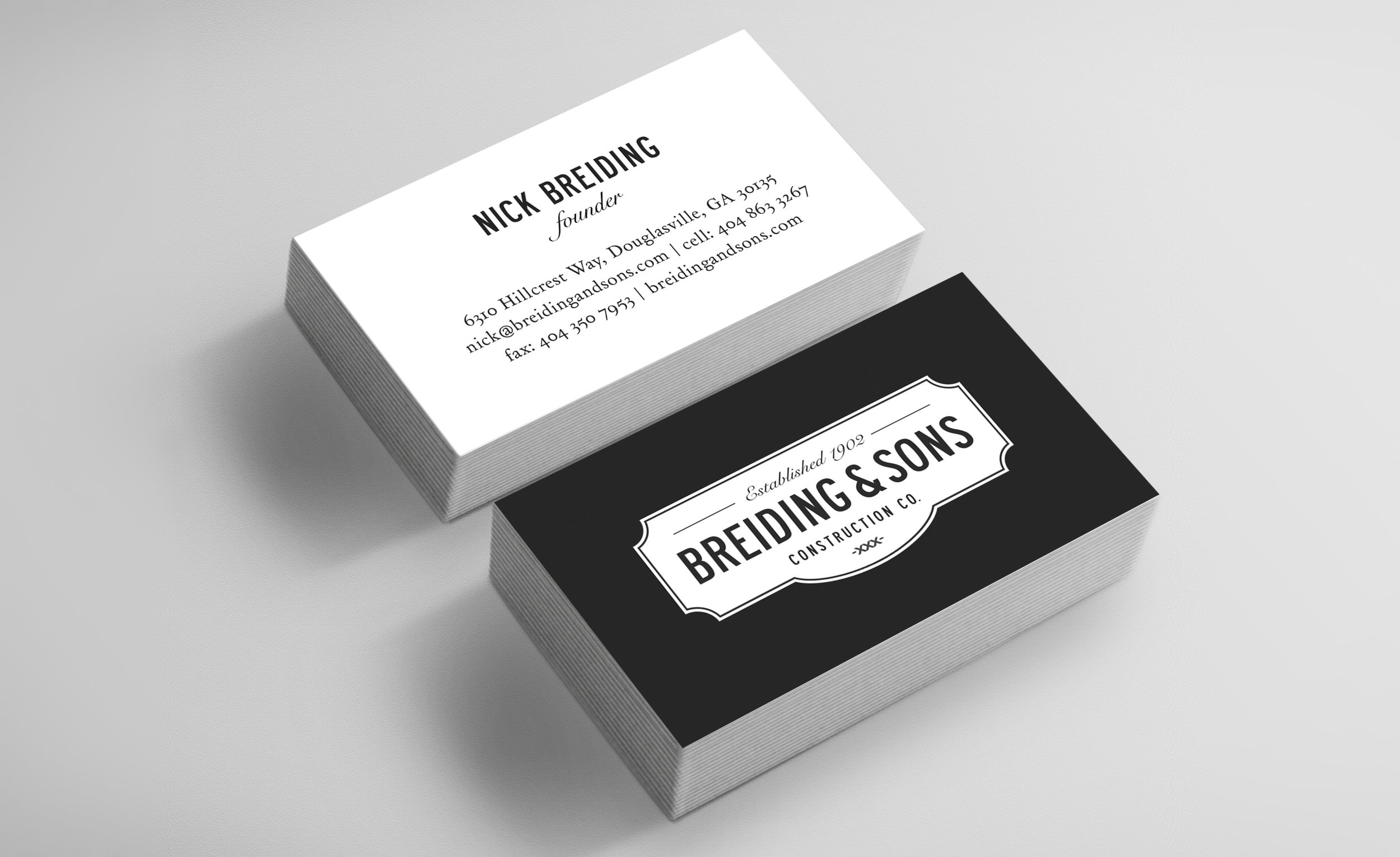 Breiding & Sons - Brand Identity, Website