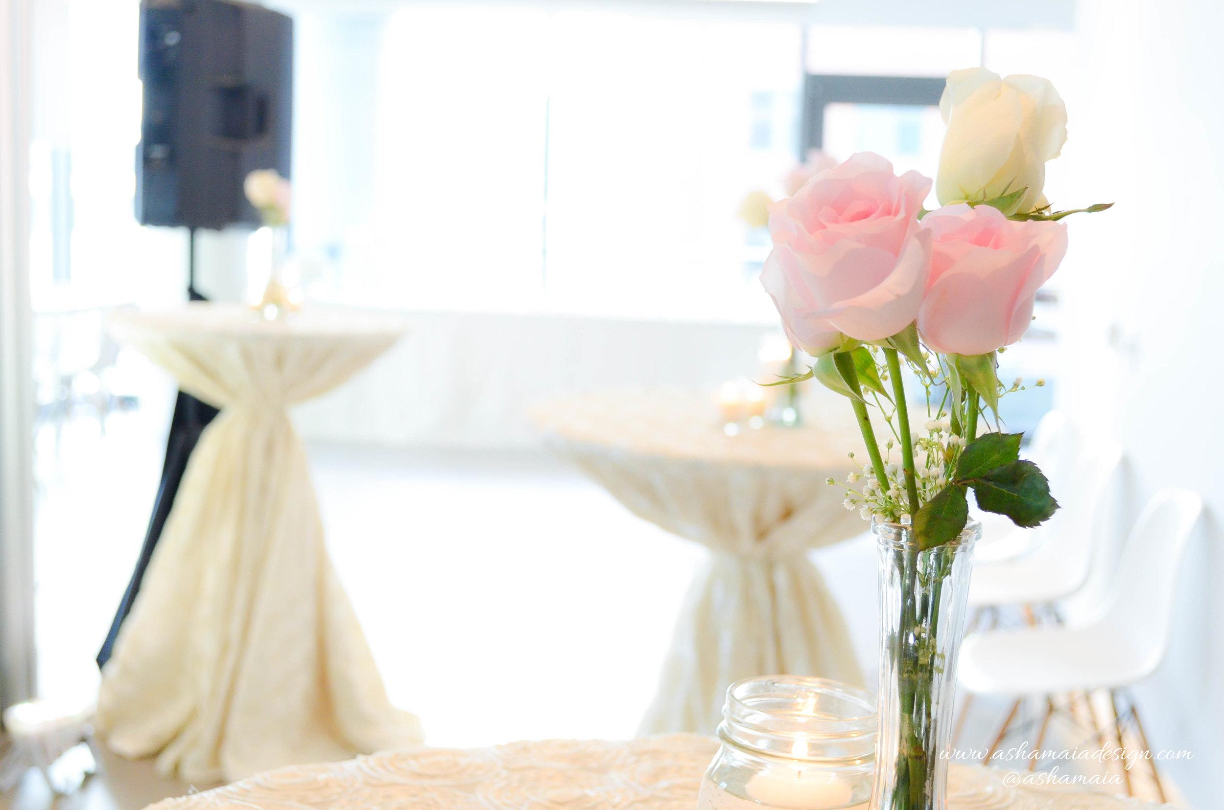 Vintage Romance Cocktail Style Wedding Reception