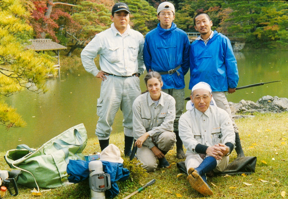 Leslie with the Shuga group in Kyoto, Japan.