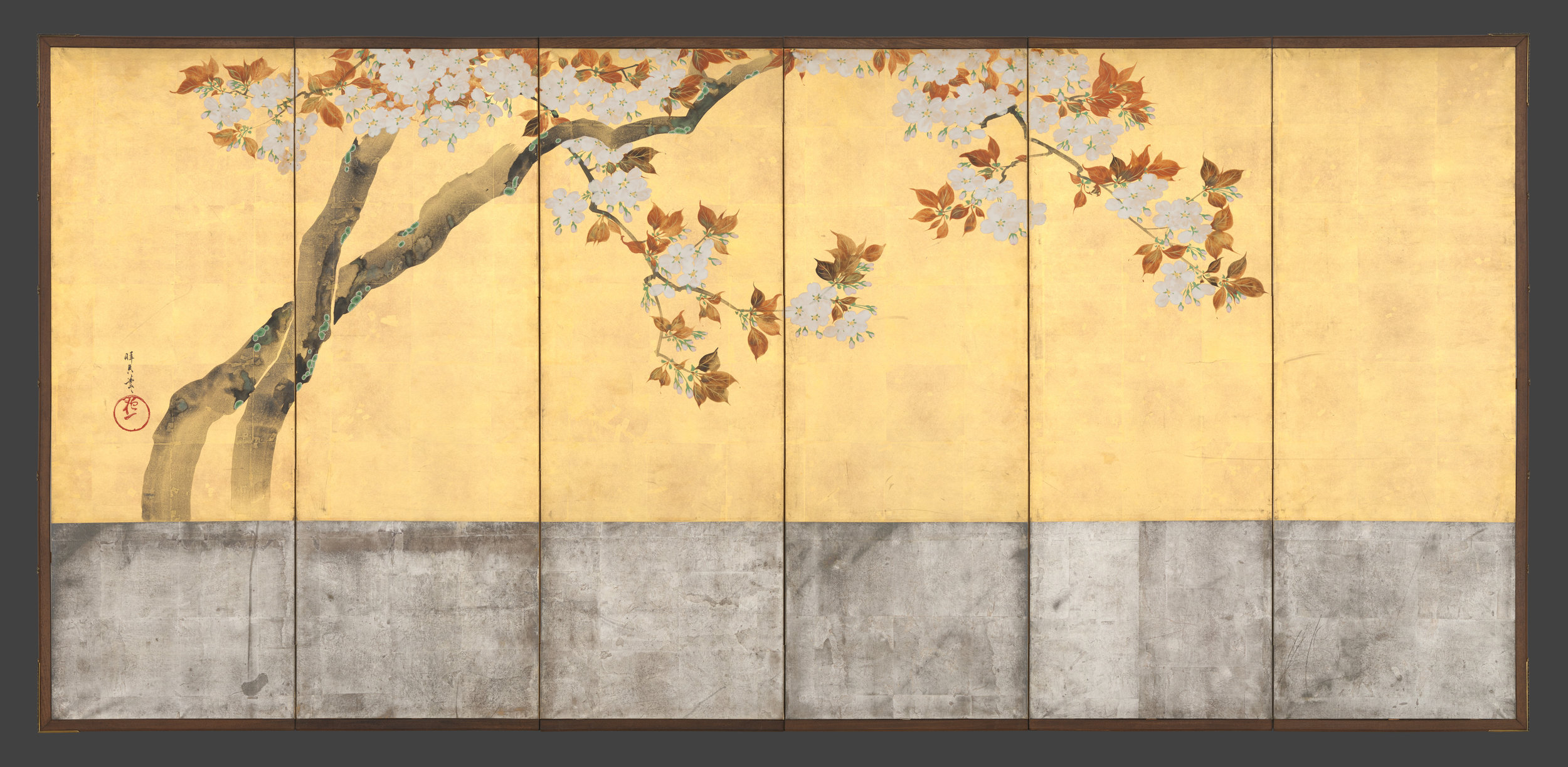 Blossoming Cherry Trees, ca. 1805  Sakai Hōitsu CREDIT: Metropolitan Museum of Art