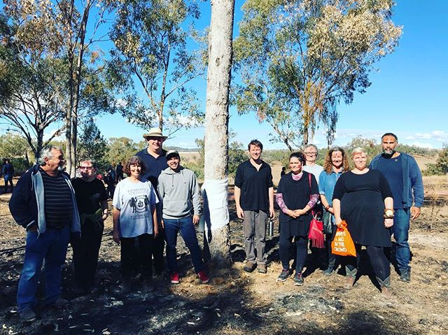 We have had an amazing four days of exhibitions and talks and now the 2018 Myall Creek Memorial Commemoration. Thank you to all the participating artists - 12 months after the first residency we have gathered at Myall Creek once more. #myallcreekandbeyond #myallcreek