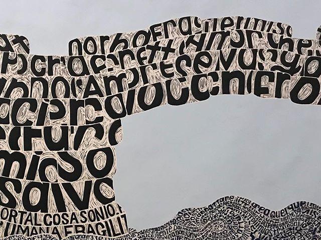 Angela CAVALIERI 'Ragionando' (detail) 2015 now in Deep Cuts. #theprintroom #nerammuseum #linocut #printmaking