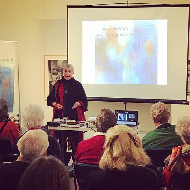 It is wonderful the have Jennifer Gowen at NERAM to discuss her experiences as an artist in Afghanistan. #nerammuseum #artisttalk