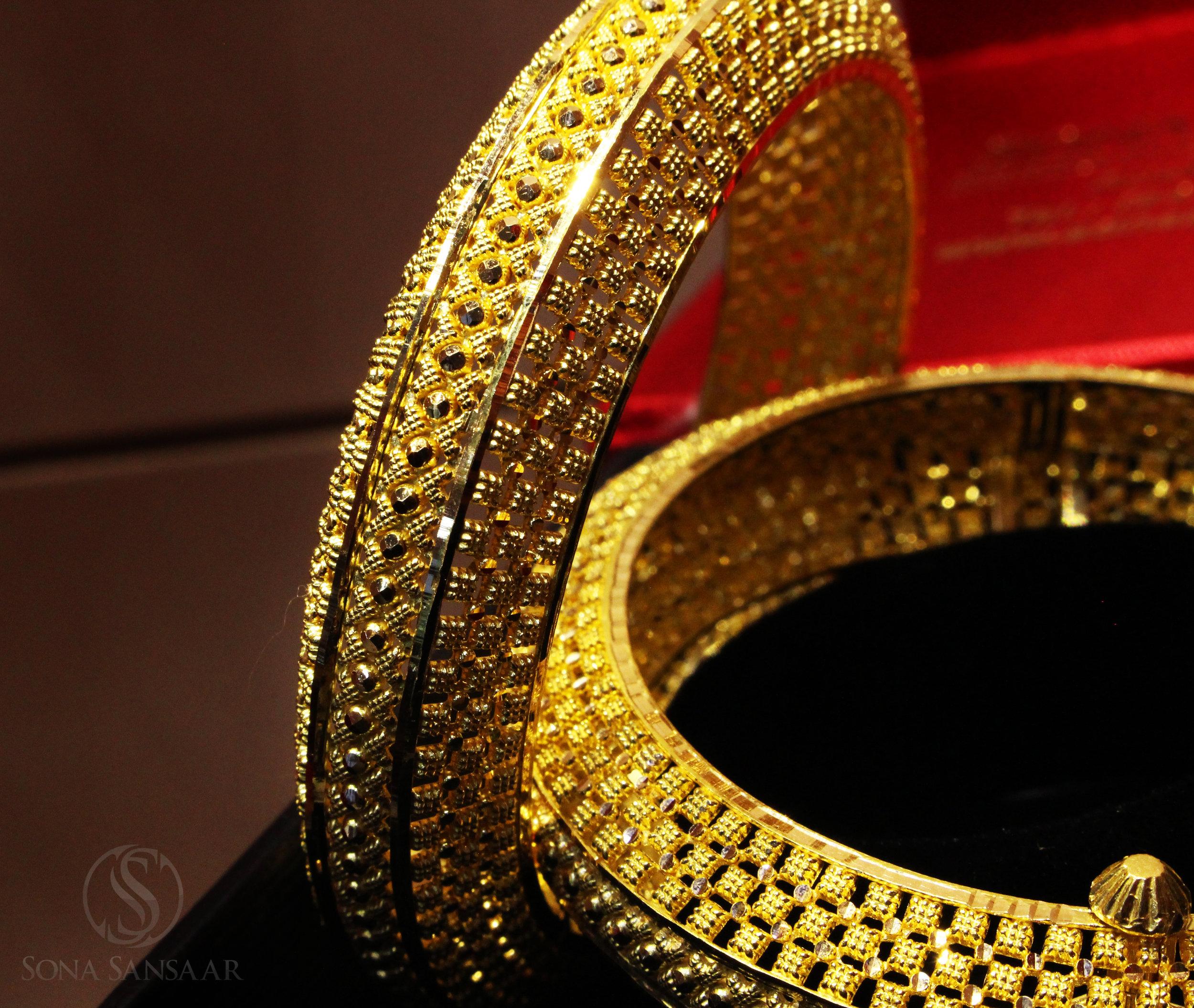Indian 22kt Gold Bangles