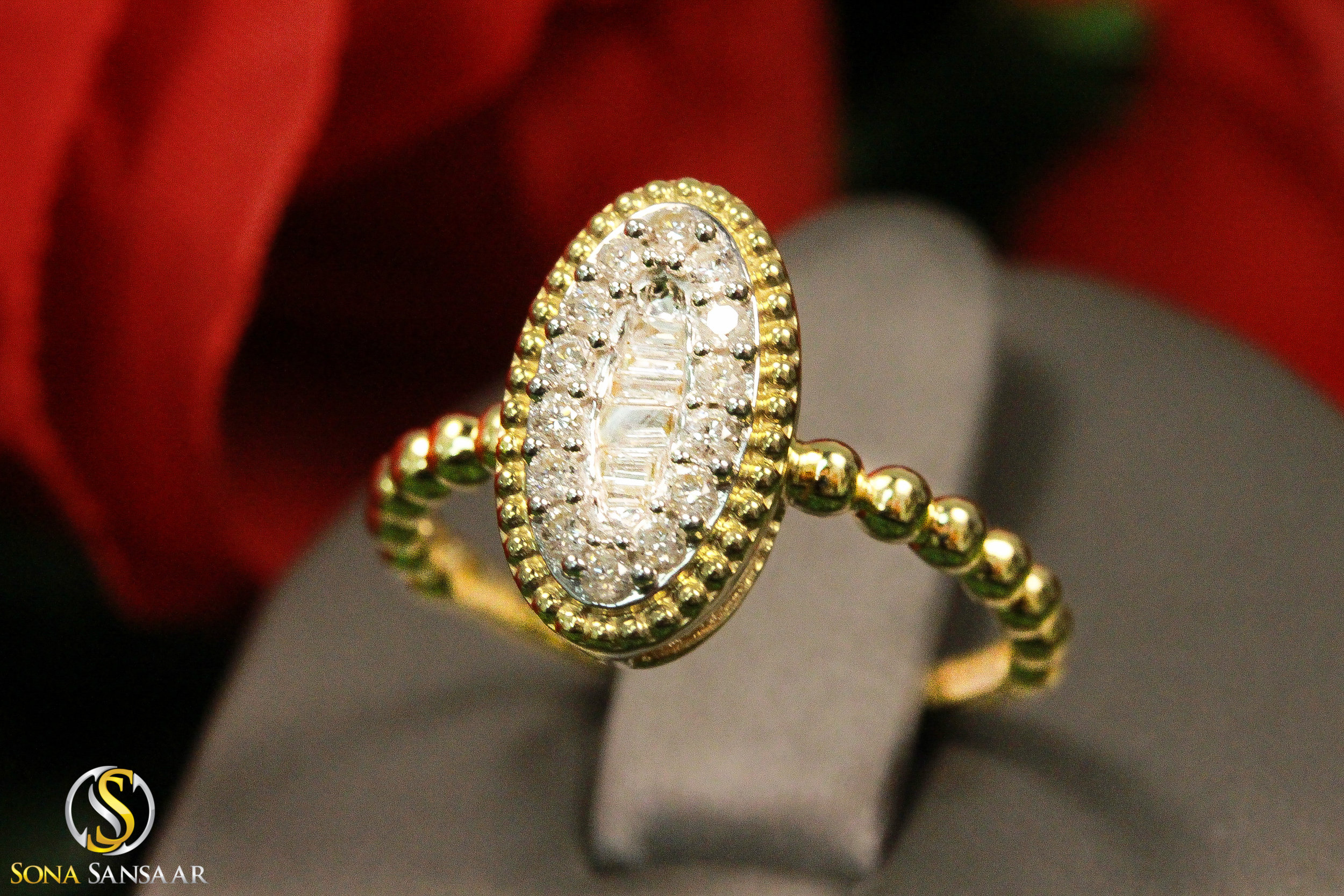 Oval Baguette Diamond Ring