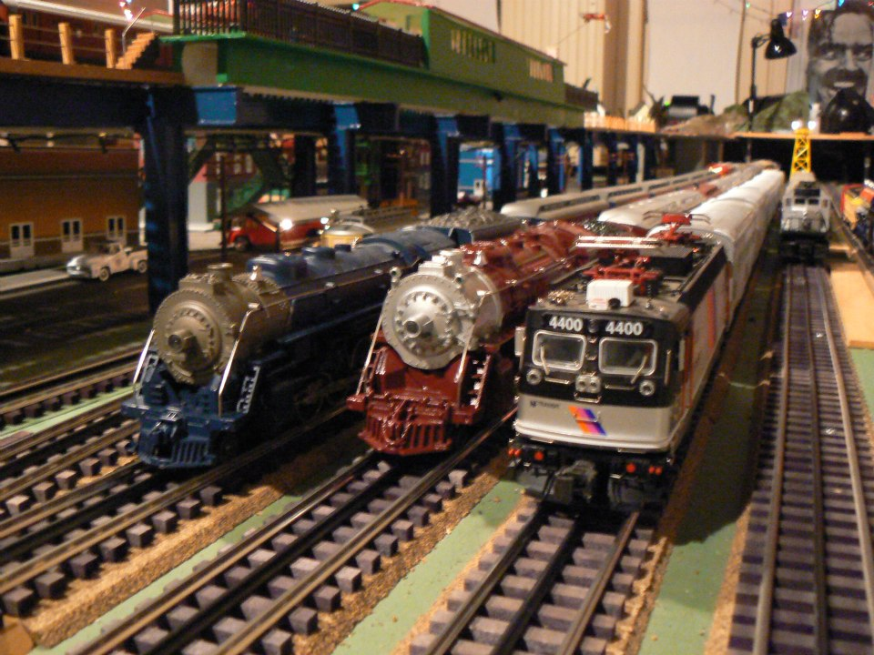 - From Left to Right: MTH Railking Texas and Pacific 4-8-2 Mountain, Lionel Chicago and Alton 4-6-4 Hudson, and an Atlas O NJ Transit ALP-44