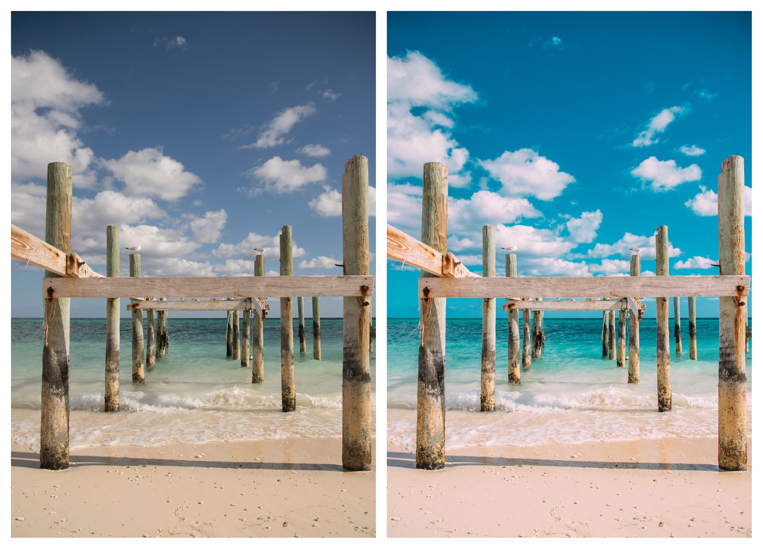 BALI Preset, before and after