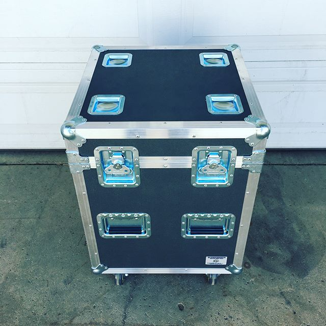 "New case for our production team! This one has the same footprint as an 1/8 pack but just a little taller for our 24"" deck legs to fit! • • • #MadeBySlam #Slamhammer #gear #case #roadcase #flightcase #live #event #production #music #industry #backstage #mpls #mn #electronics #workshop #woodshop #wood #woodwork #woodworking #photography #videography #picoftheday #photooftheday #madebyhands #staging #deck #deckbuilding #stage #rigging"