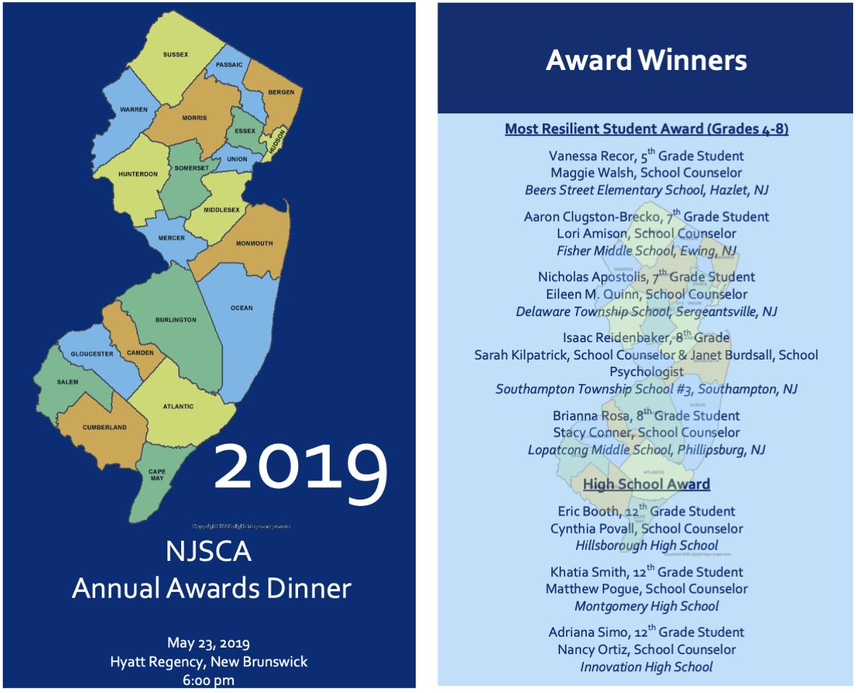 Link to 2019 NJSCA Awards  Brochure
