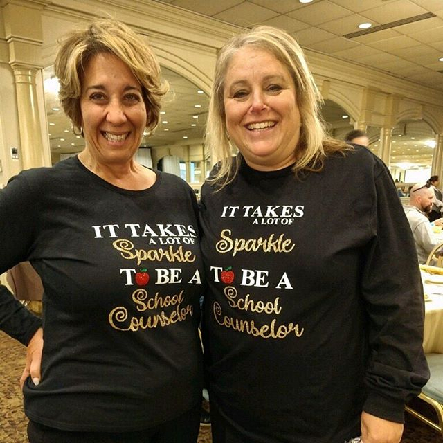 Laurie Corizzo and Dana Folcarelli -Paramus Counselor's showing off their School Counselor Swag! #njsca19