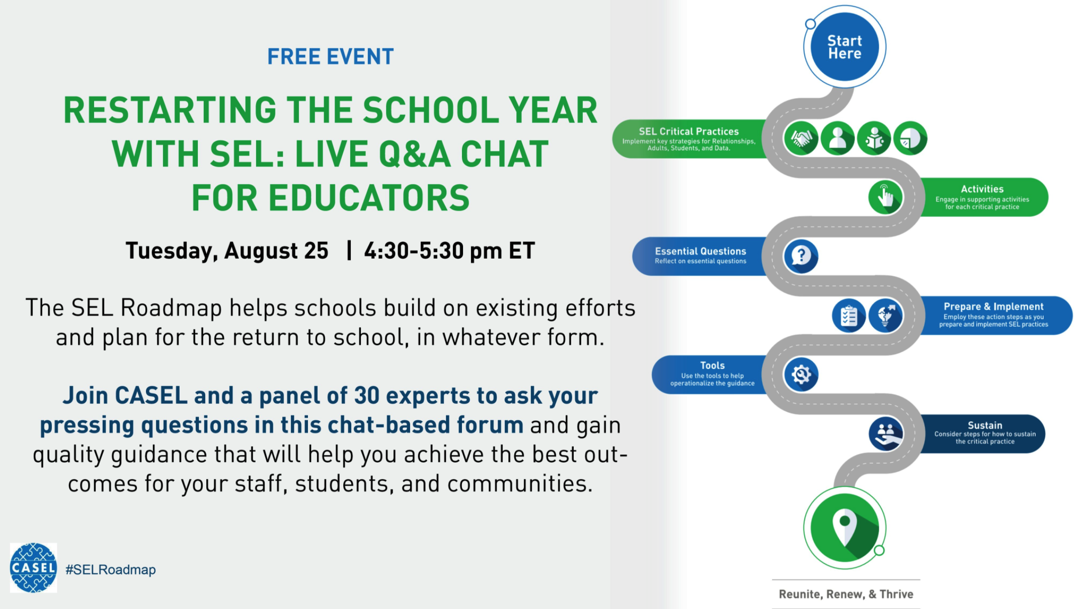 Restarting The School Year With Sel Live Q A Chat For Educators Njsca New Jersey School Counselor Association