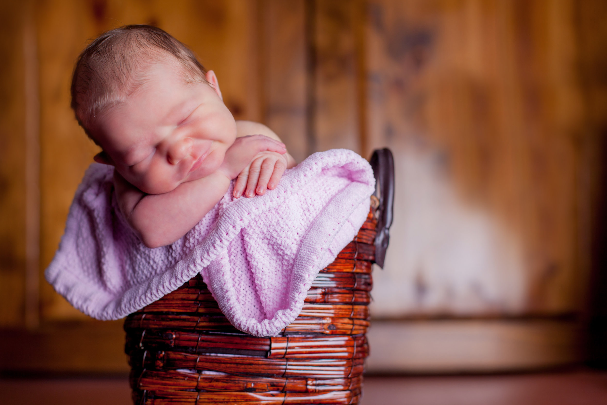 Nothing like a baby in a basket. -