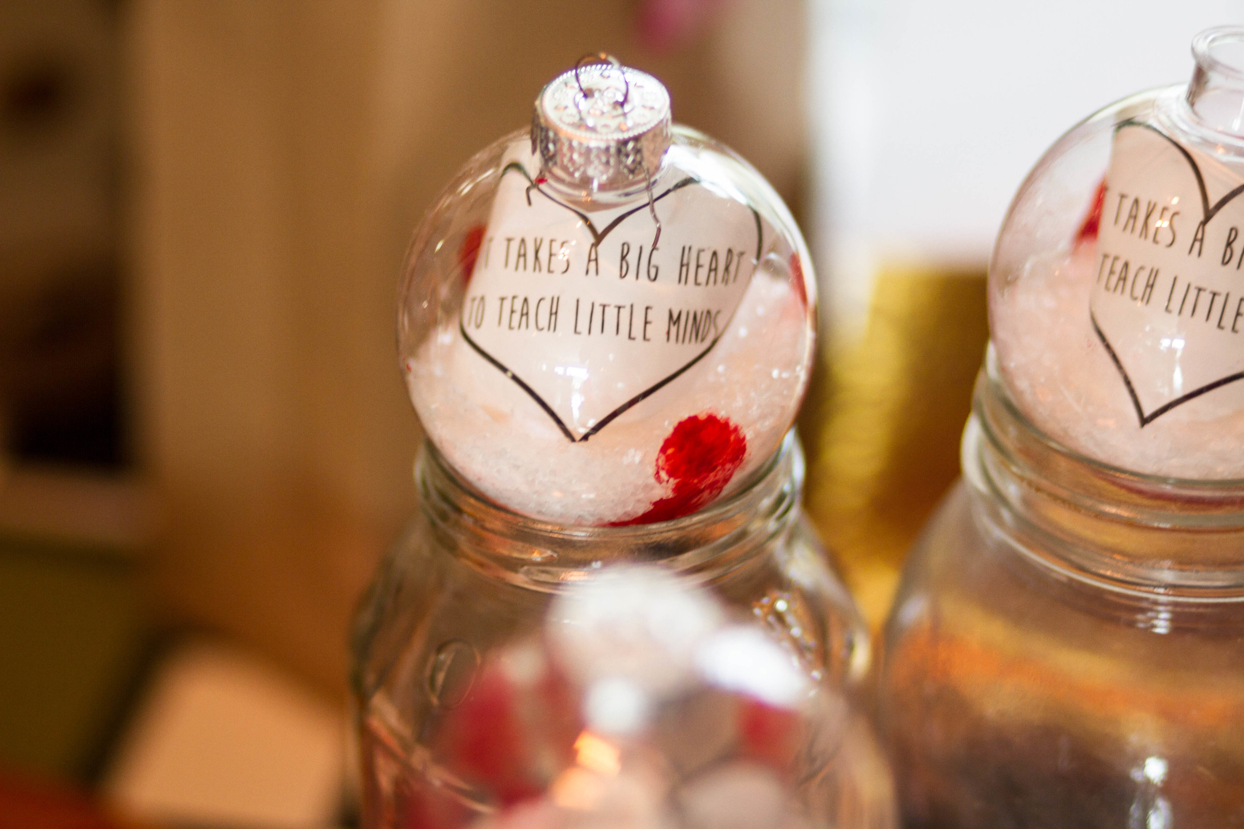 Next fill up with Epsom salt and add your cute little notes!