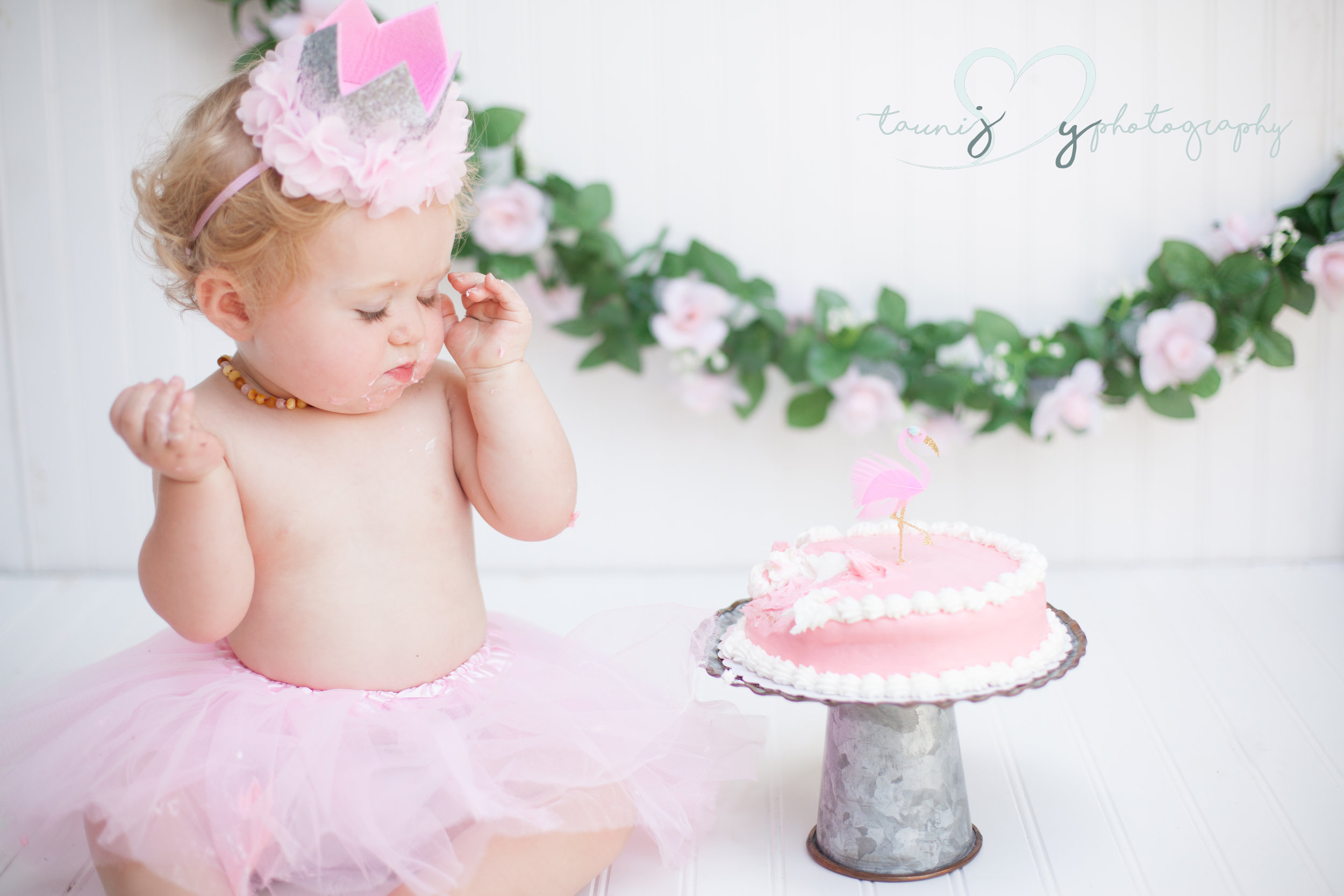 cake smash photographer Tauni Joy Photography