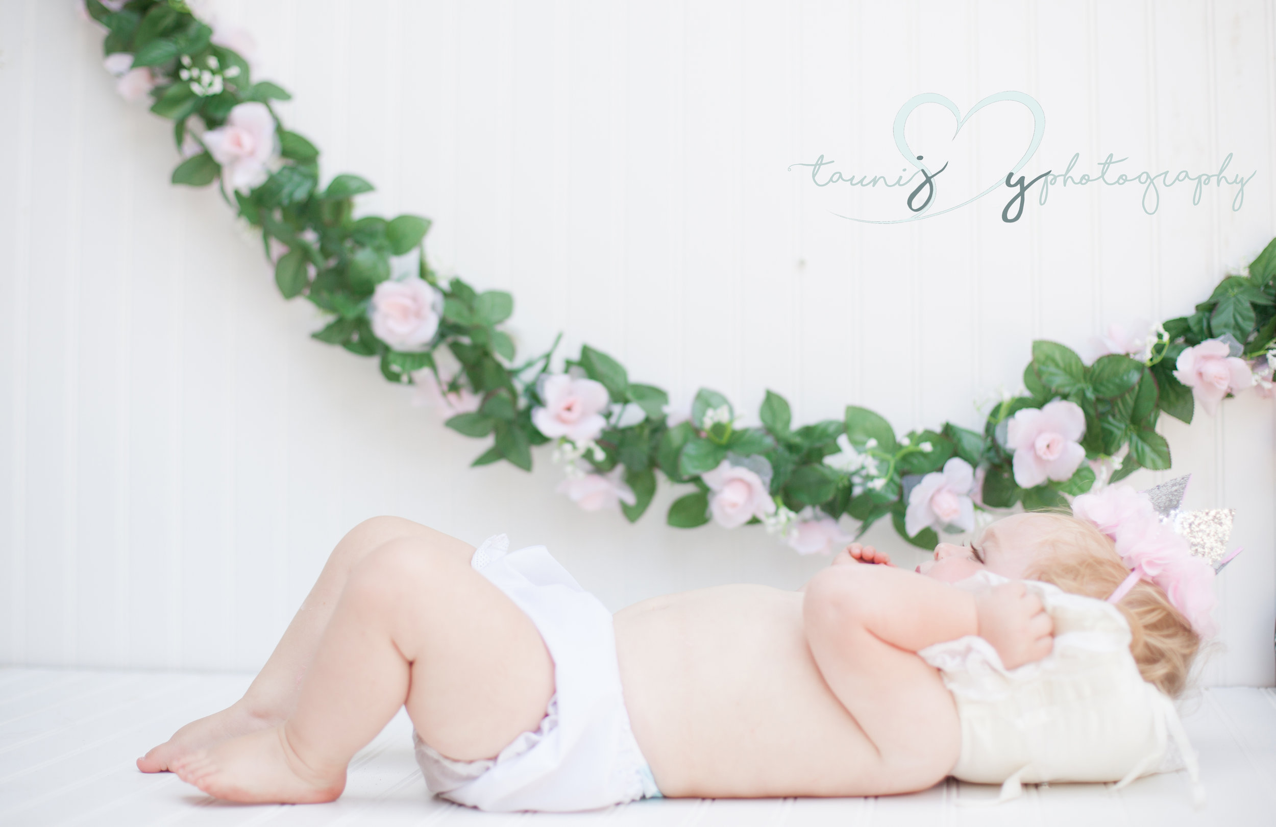 first birthday photography baby girl photographer