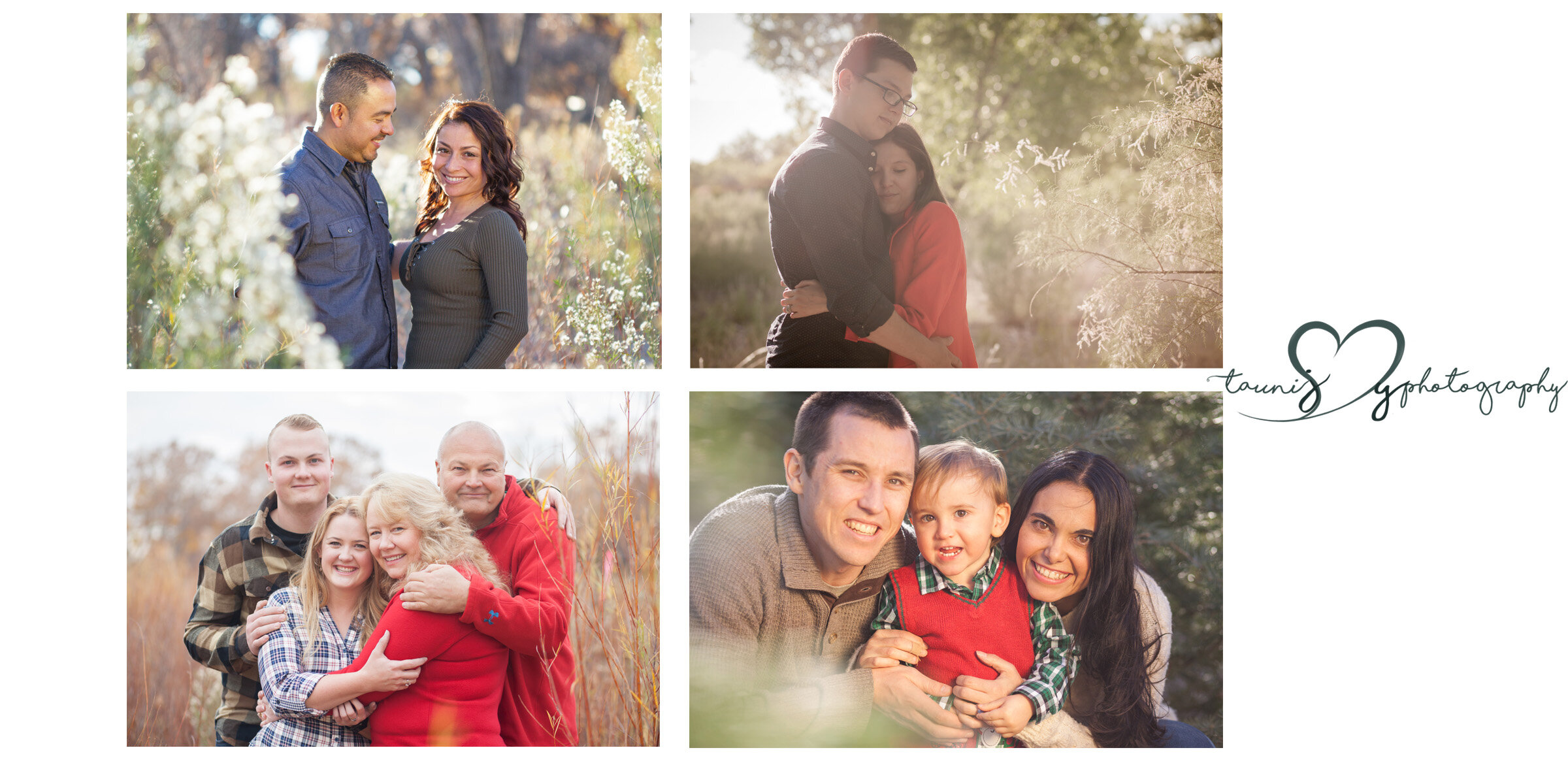 bottom right is a sweet Christmas tree session!   All the fall colors , eeeek !
