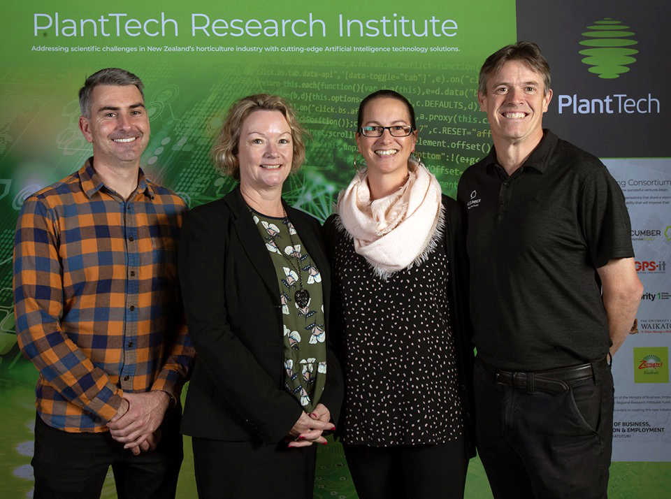 Cucumber team (from left) General Manager Aiden Lett, Product Engagement Manager Jo Burns, Digital Experience Analyst Carol Machaj and Business Manager Ian Gray.