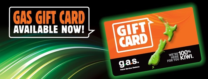 GAS GIFT CARD - Purchase online or at participating GAS Petrol Service Stations.