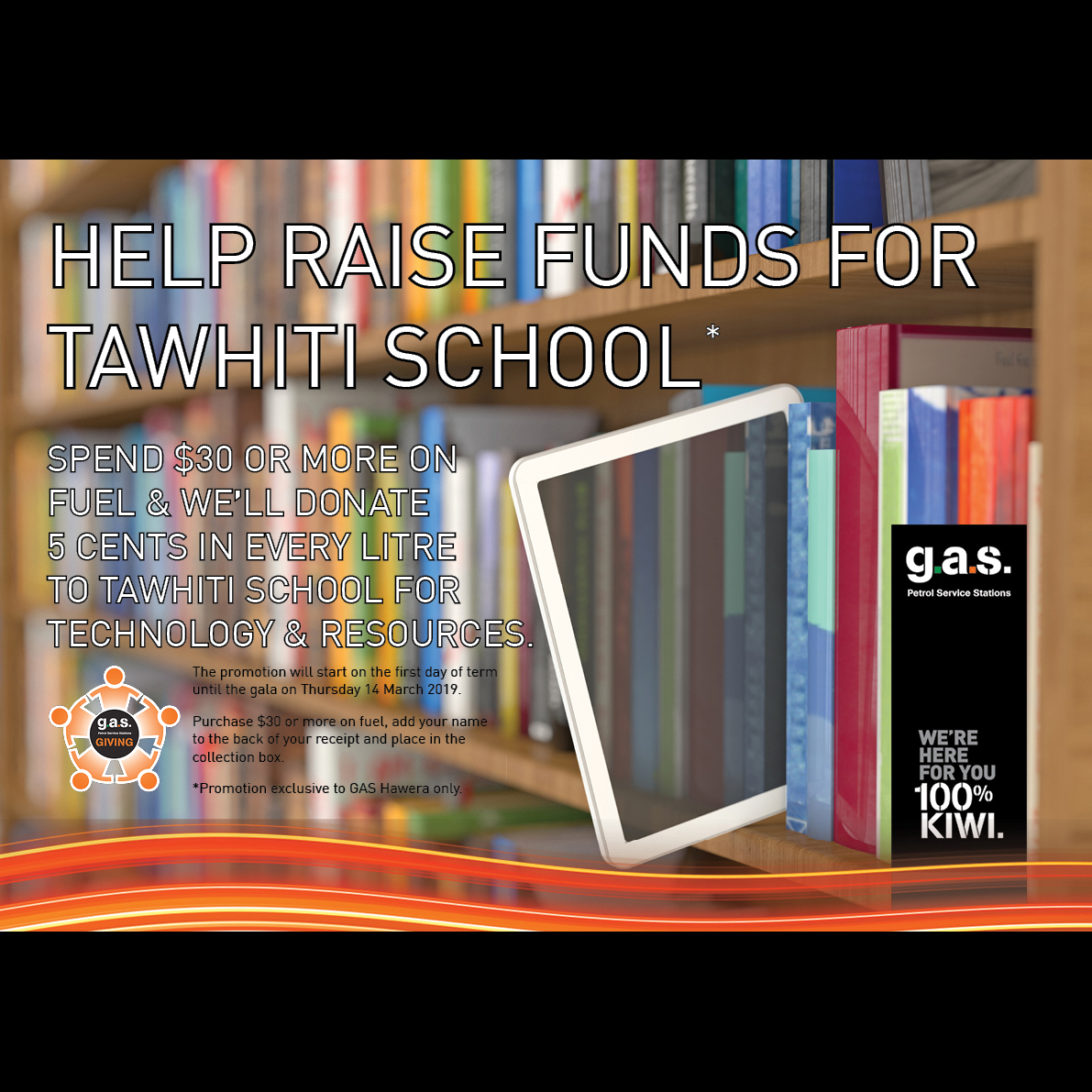 GAS Hawera - Raising fund to support Tawhiti School for technology and resources.