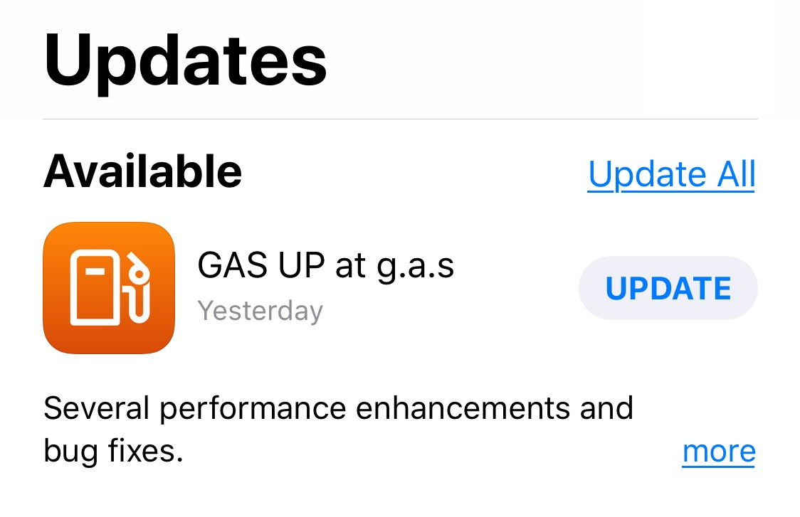 Check app update in Apple or Google Play Store.