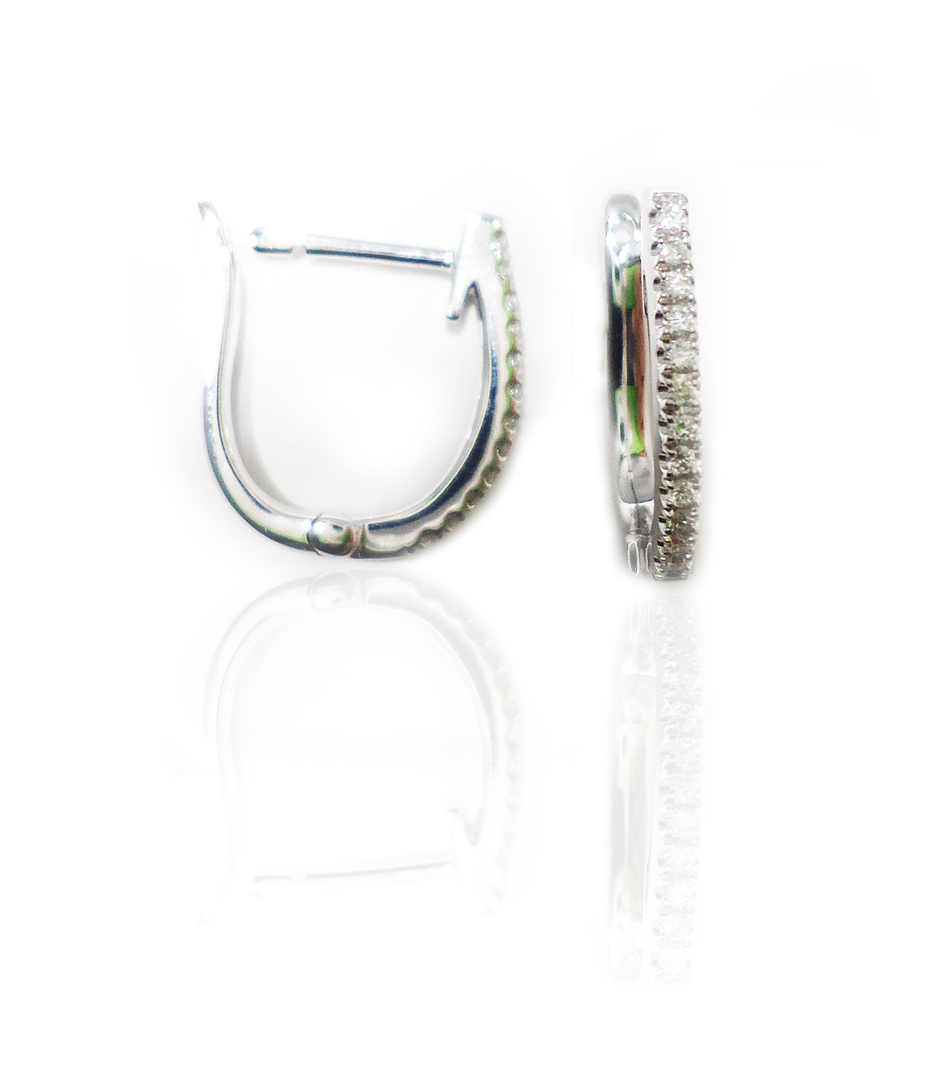 Diamond hoop earrings!