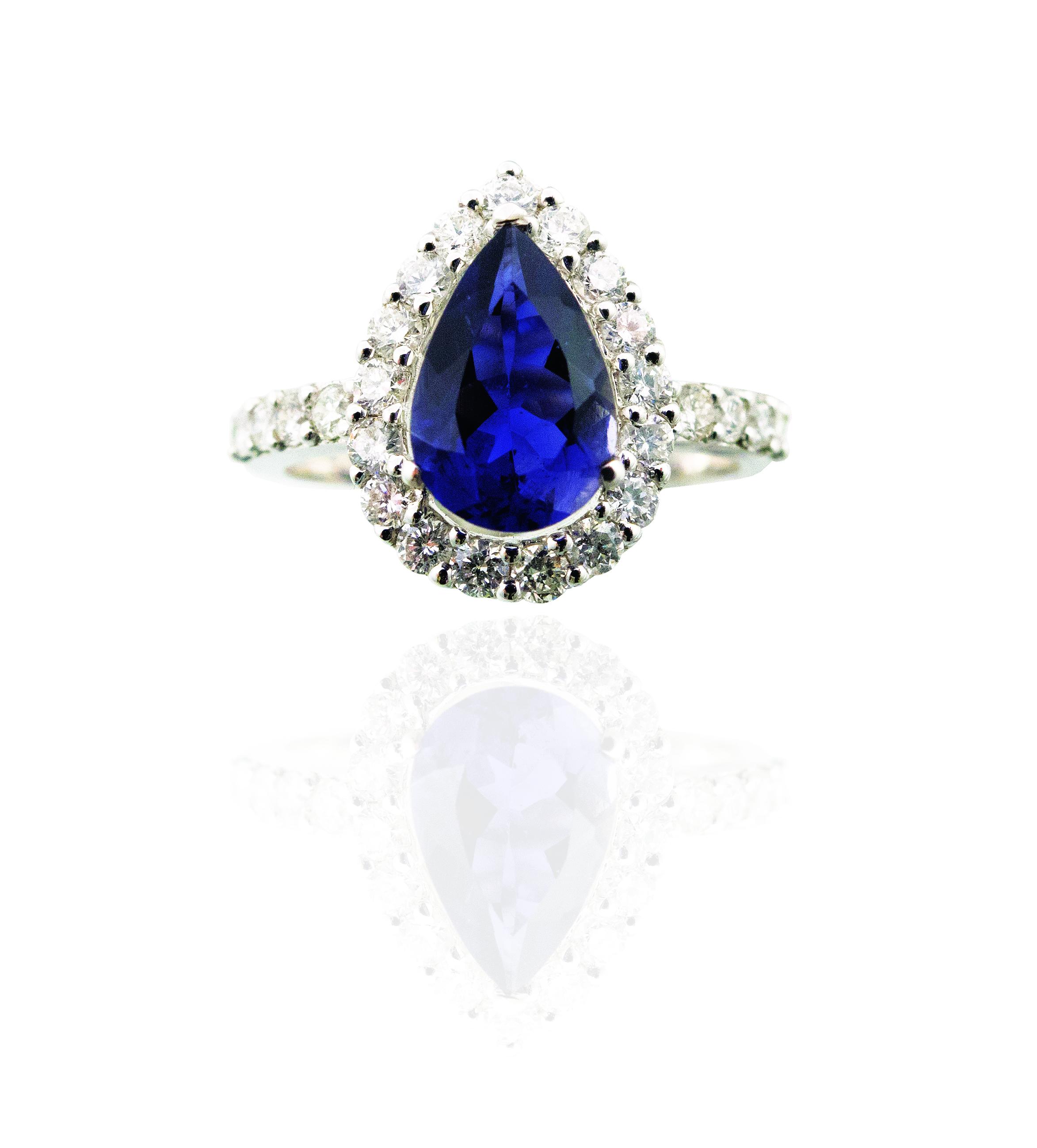 Pear shape Iolite ring!