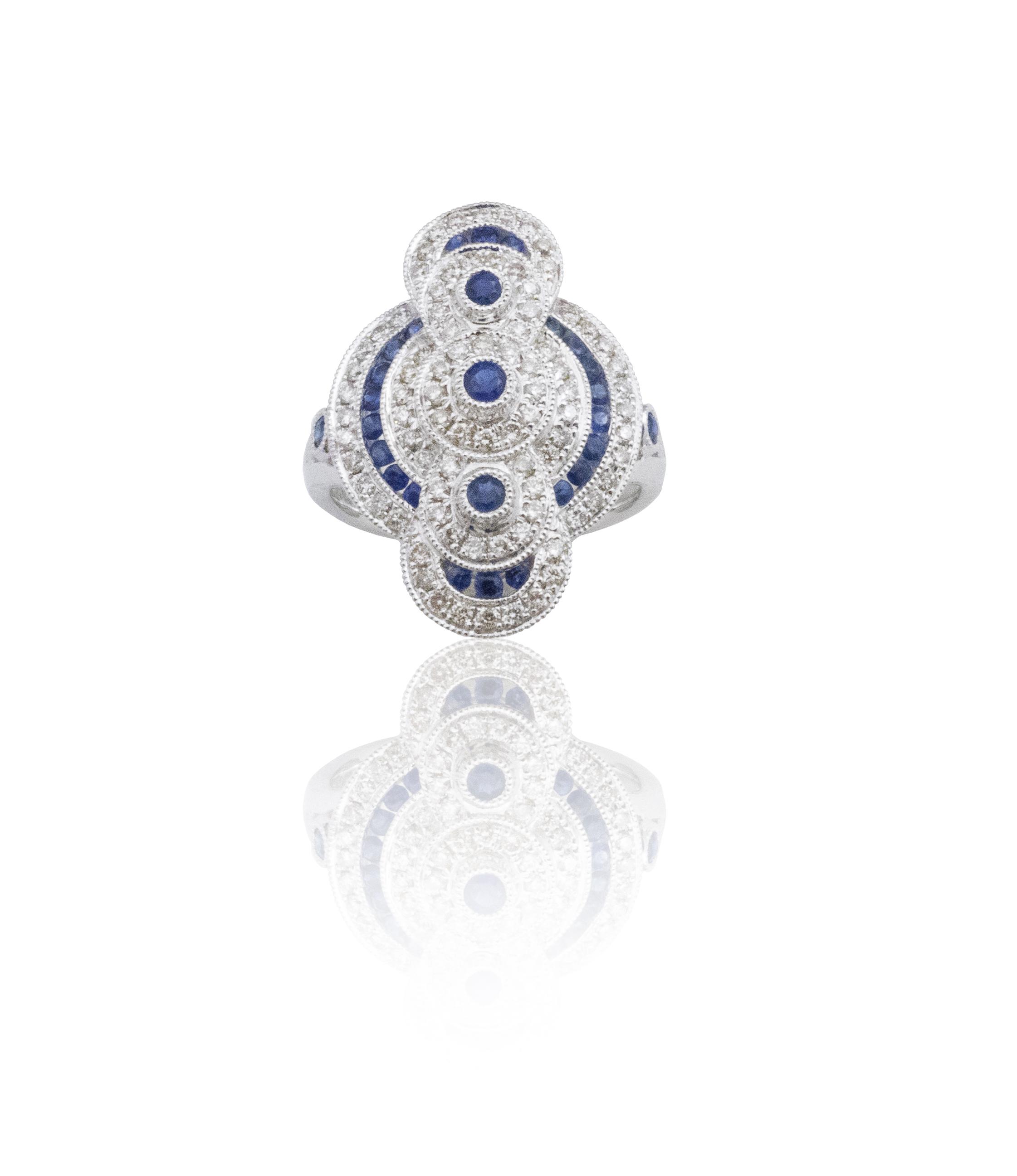 A work of art Sapphire ring!