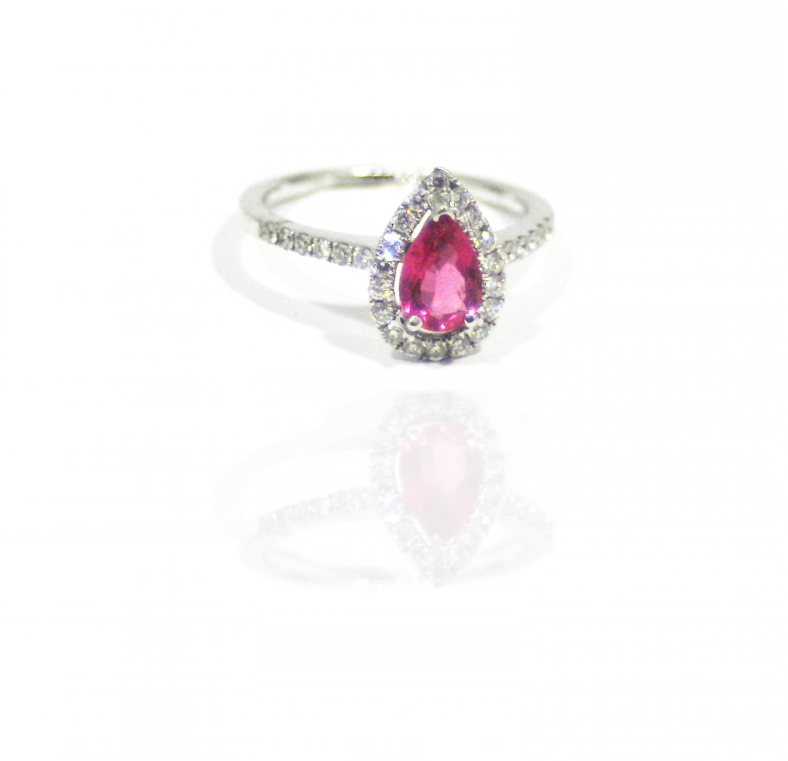 Gorgeous pink tourmaline ring.
