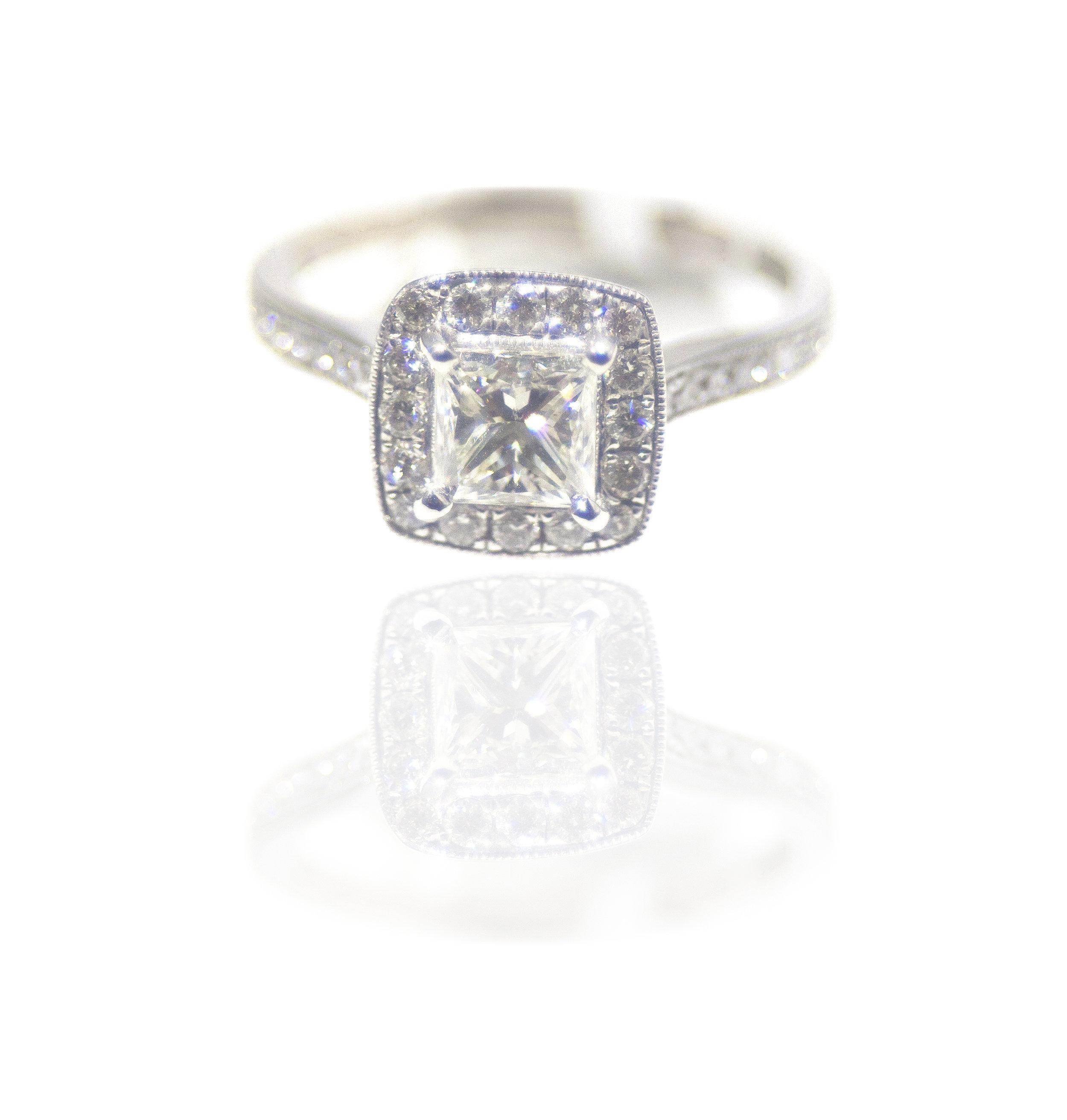 Cushion cut diamond ring!