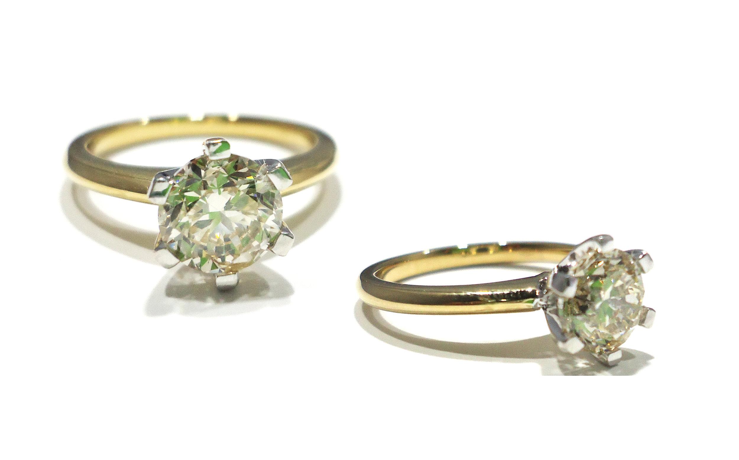 Diamond classic style ring!