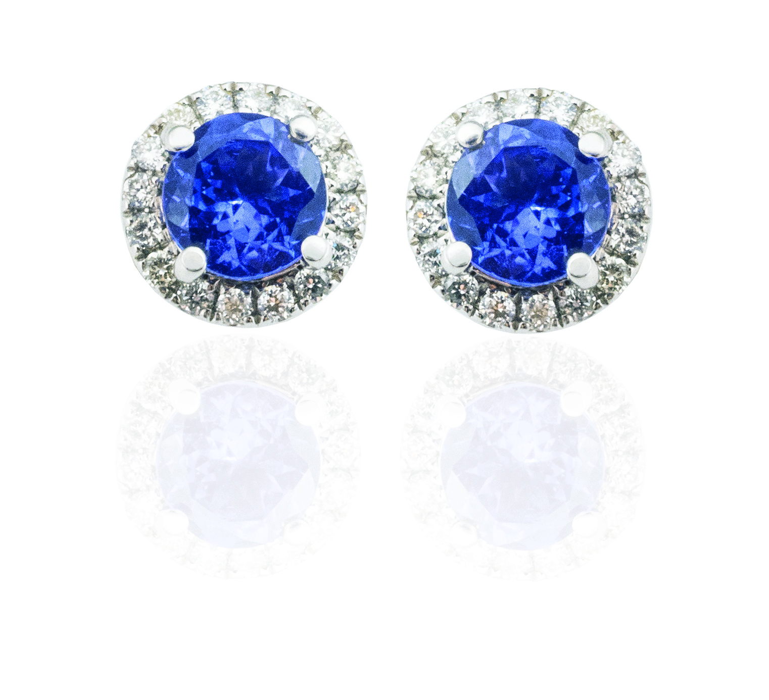 Tanzanite diamond studs! - SOLD