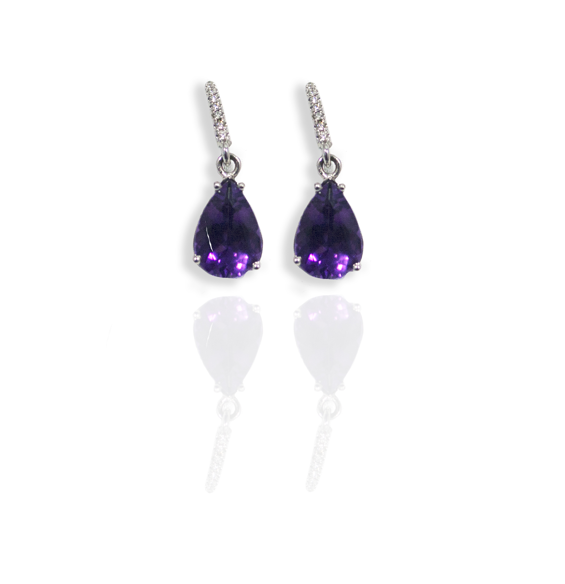 Diamond Amethyst earrings!