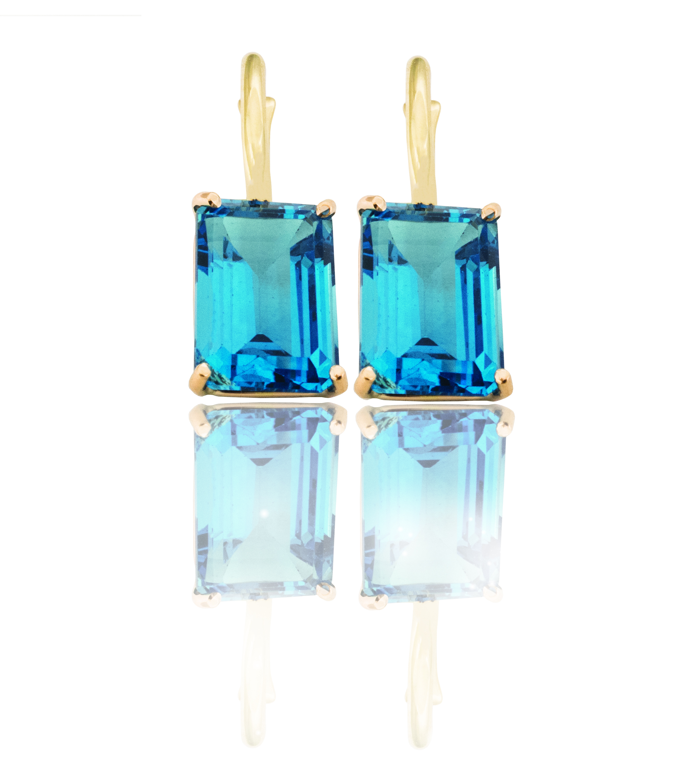 Gold Topaz earrings!