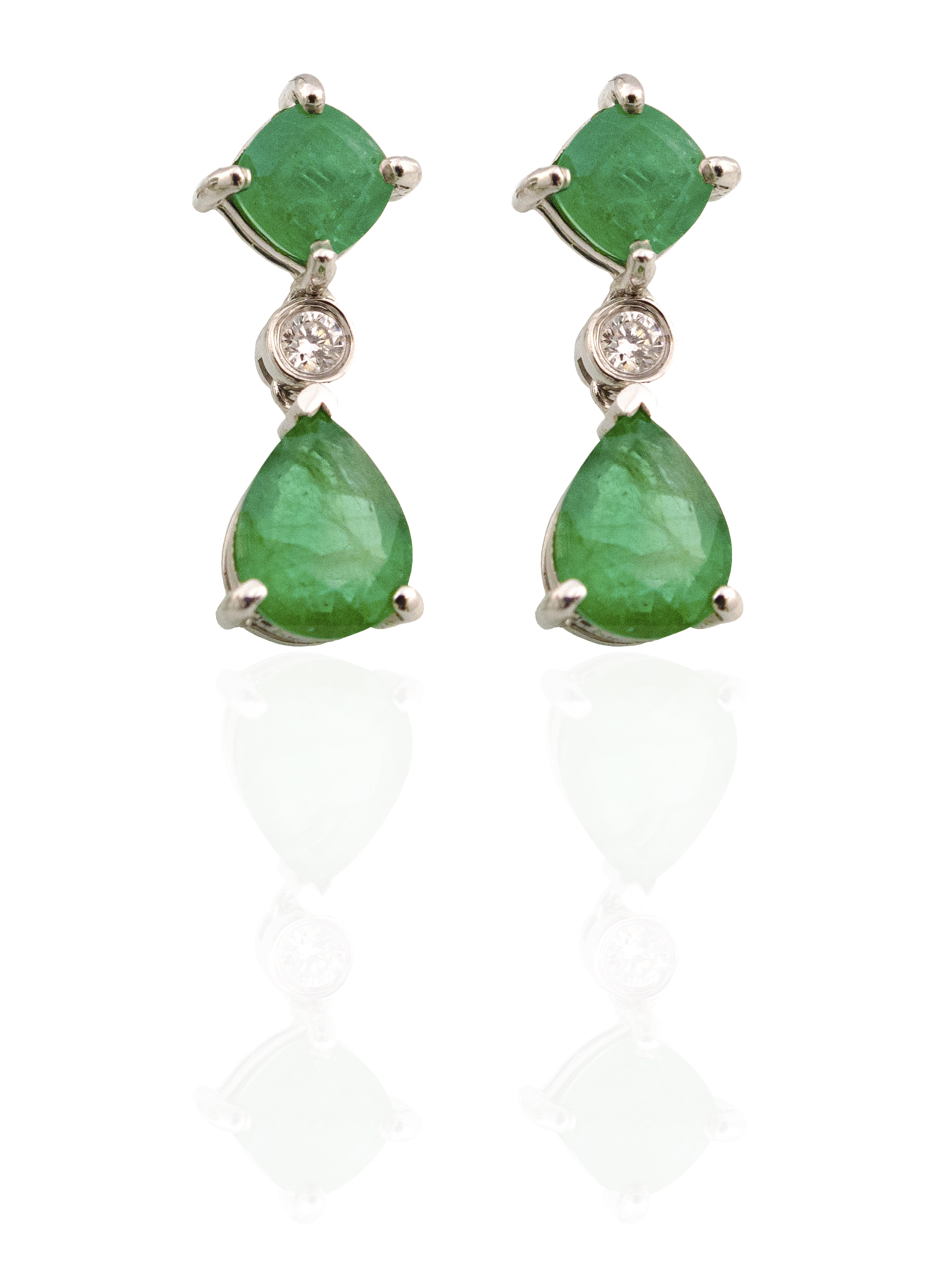 Diamond Emerald earrings!