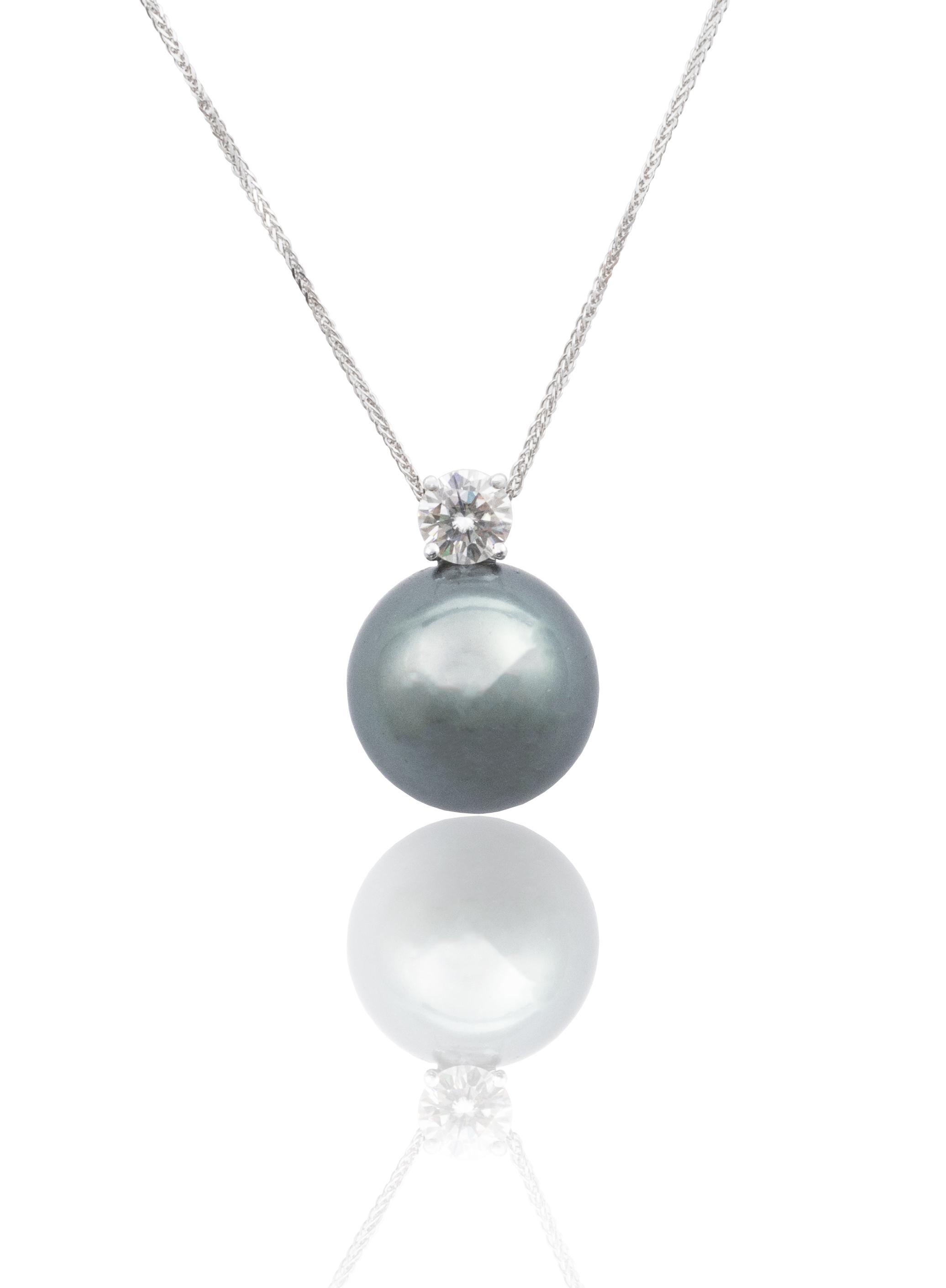 Diamond Tahitian necklace!
