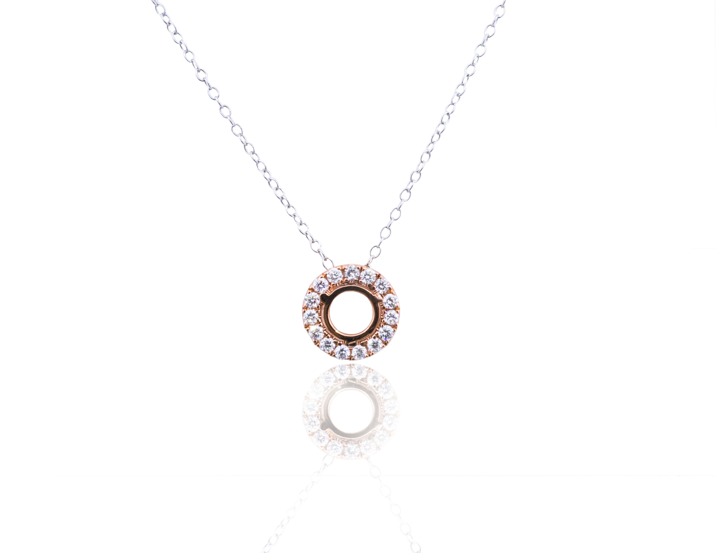 Diamond halo pendant necklace!