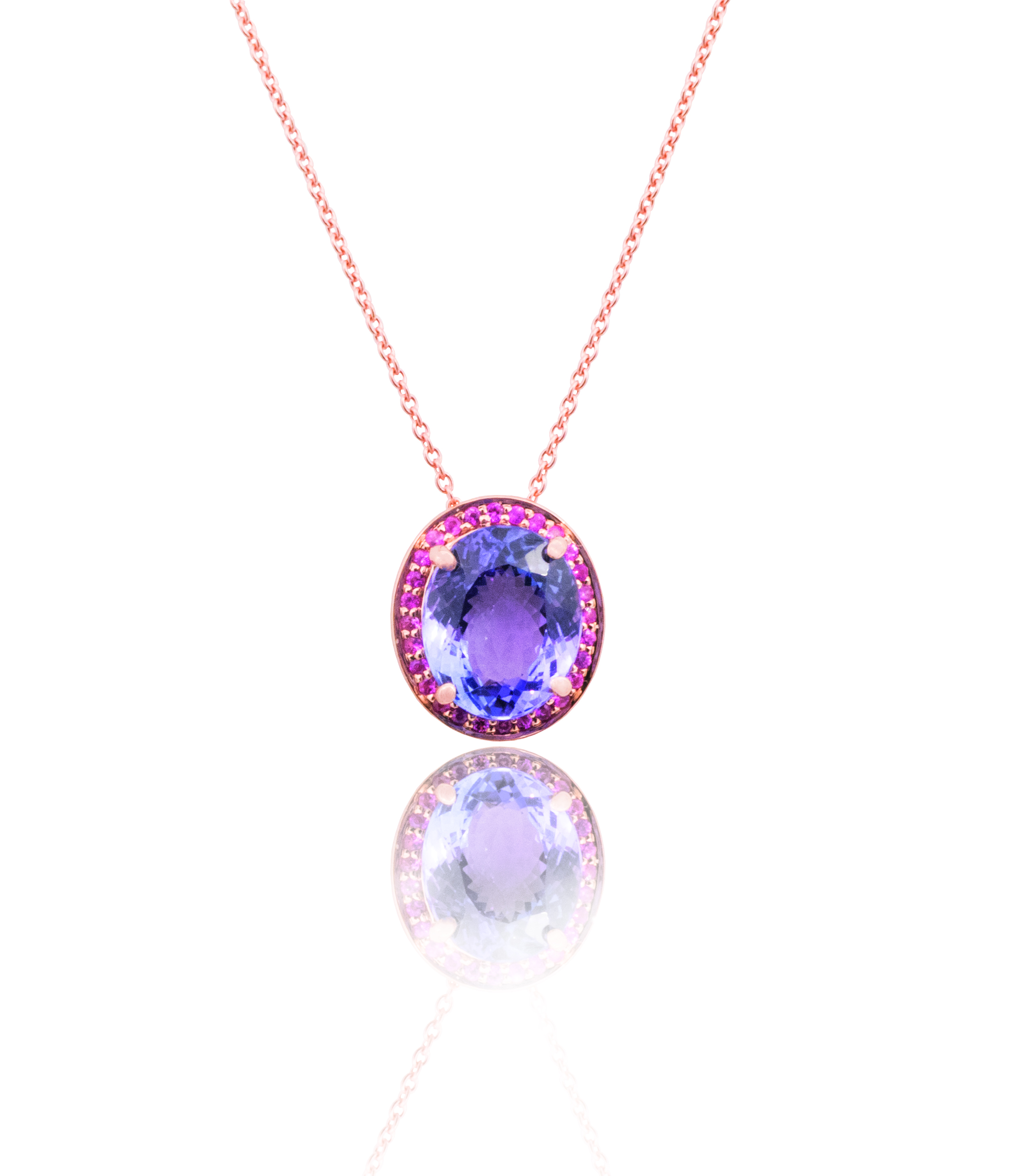 Tanzanite and Sapphire necklace!