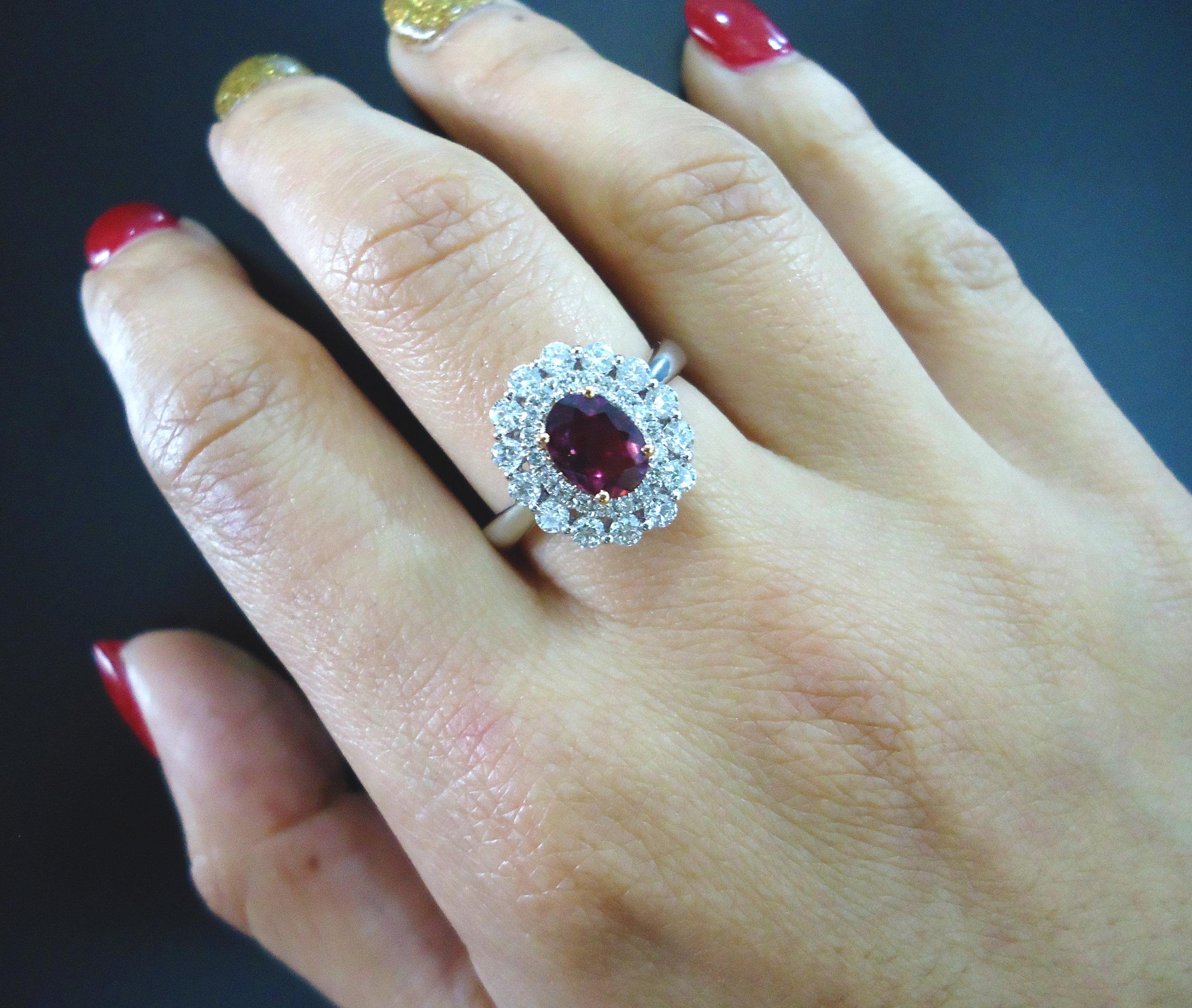 Tourmaline diamond ring!